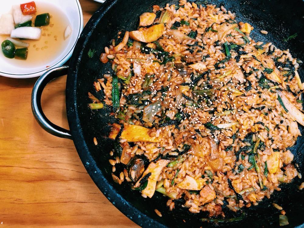 韓国ふぐ料理-ふぐ焼きご飯