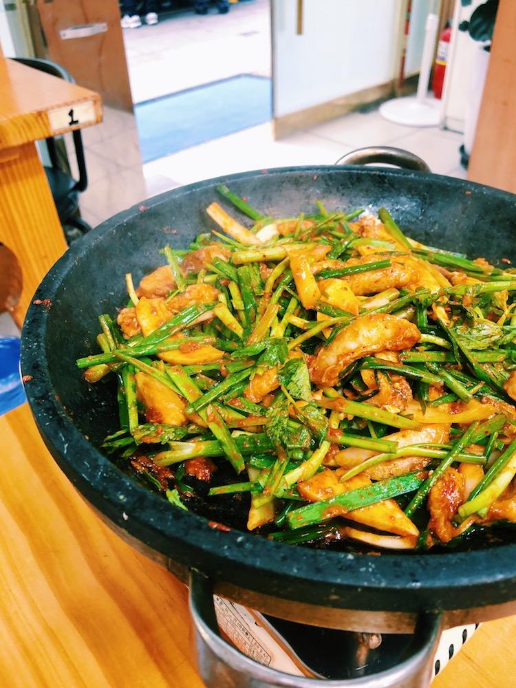 韓国ふぐ料理-フグプルコギ