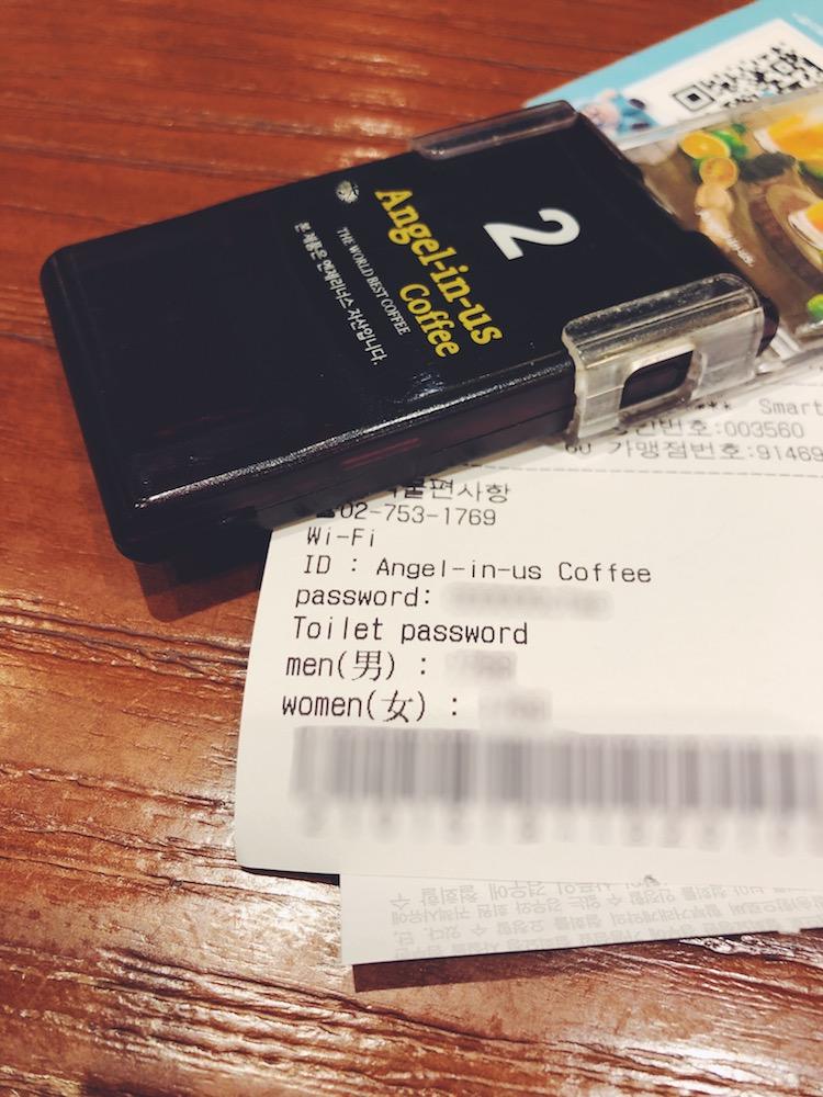 Angel-in-us Coffee-パスワード
