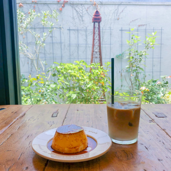 鎌倉【Cafe de Fleur(カフェドゥ フルール)】今流行の硬めプリンを味わう