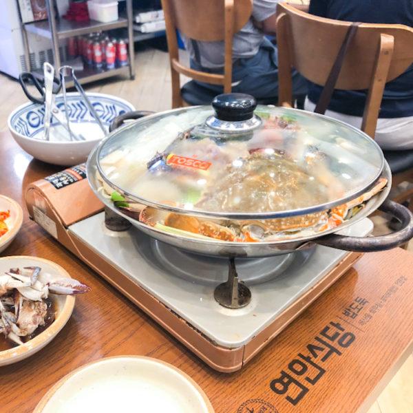 韓国の大手チェン店【沿岸食堂(연안식당)】コスパ高く安心できる海鮮料理